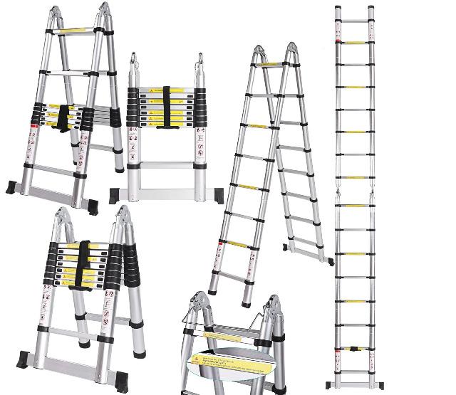 Teleskopleiter Multifunktionsleiter Aluleiter Klappleiter Leiter NEU 3,20m 3,80m 5,00m