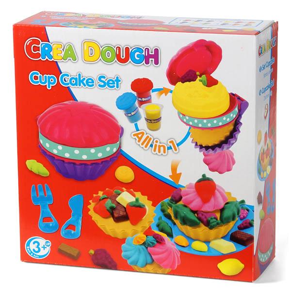 28-412606, Knetspielset Cup-Cake-Set,