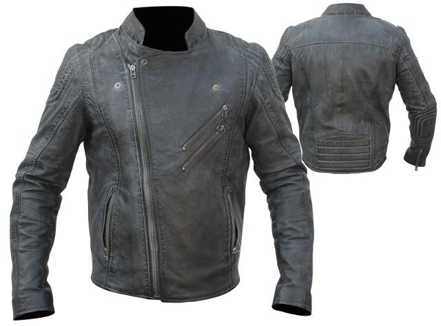 Herren Hochwertige Leder Motorrad Jacke Rocker Oldschool Biker Lederjacke - 69,00 EUR