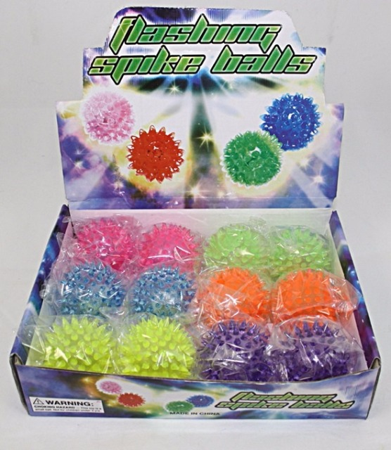 27-43323, Stachelball mit LED Licht, Gummiball, Springball, Flummi