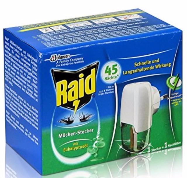 12-876632, Johnson Raid Mücken Stecker und Nachfüller für ca. 45 Nächte Mückenfrei - mit Eukalyptusöl