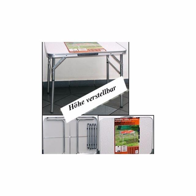 28-447568, Klapptisch 75 x 55 x 60cm, mit Aluminiumrahmen, Tischhöhe verstellbar, Campingtisch, Beistelltisch, Grilltisch, usw SONDERPOSTEN