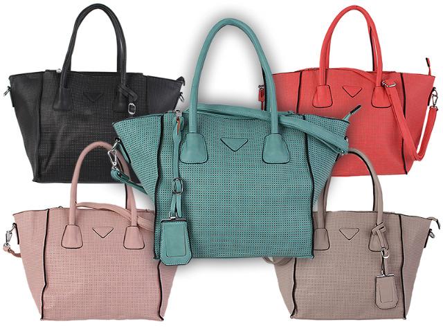 Damen Tasche Taschen Damentasche Kunstleder Umhängetasche Schultertasche Shopper - 11,90 Euro