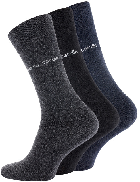 PIERRE CARDIN® Herren Businesssocken in schwarz-anthrazit-marine