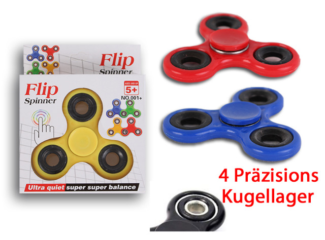 Handspinner Finger Spinner Fidget Flip Einfarbig Spielzeug High Speed Anti-Stress ADHS ADS - 1,99 Euro