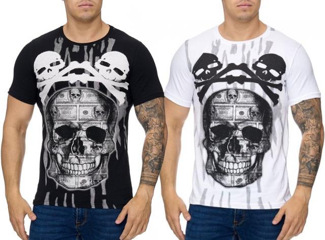 Herren Men Kurzarm T-Shirts Rundhals Motivdruck T-Shirt - 6,49 Euro