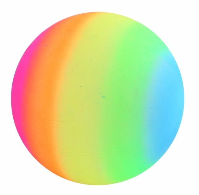 27-43401, Spielball 24 cm, Regenbogenball, Fussball, Gummiball, Strandball, Beachball