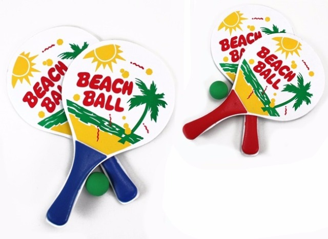 27-44346, Holz Beachballspiel, Beachballset, Strandball
