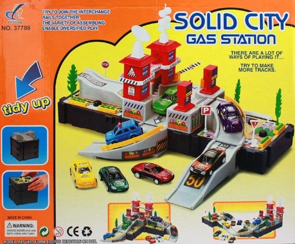27-50574, Bauset Tankstelle 'City Gas Station' 3in1, 3 Varianten baubar, mit viel Zubehör, Bausatz, Bausteine