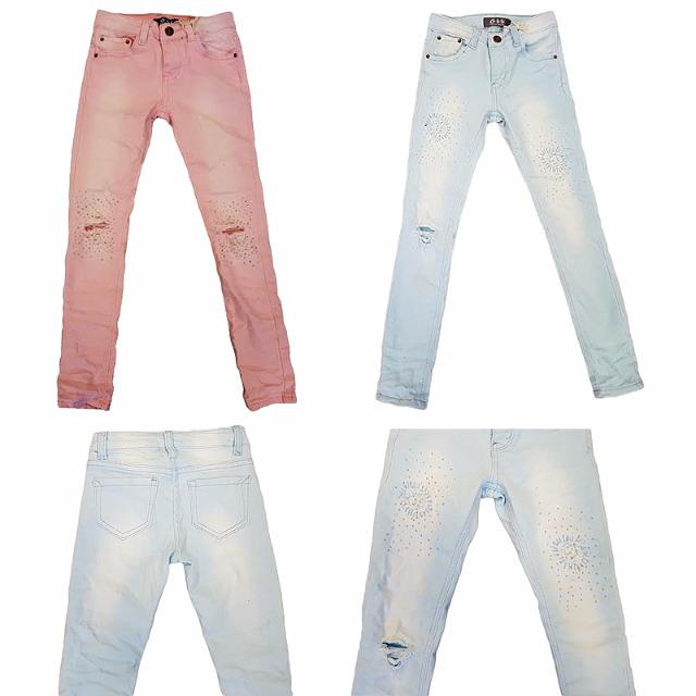 Modische Kinder Mädchen Jeans Hosen für 4-14 J. je 13,00 EUR