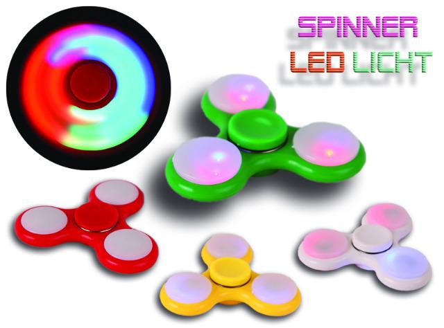 Handspinner Finger Spinner Fidget Flip LED Licht Spielzeug High Speed Anti-Stress ADHS ADS - 2,90 Euro