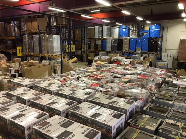 Komplettladung Gemischte Markenware 45 Paletten Haushalt & Co - 40HQ Container ABC Ladung