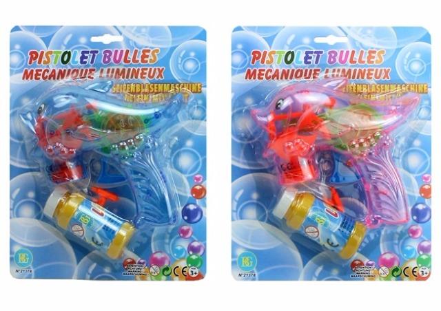 27-46078, Seifenblasen Pistole Delfin mit LIcht inklusive Seifenblasenflüssigkeit