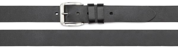 belt PU made with leather backing, black