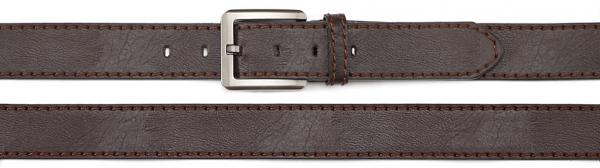 belt PU made with leather backing, brown