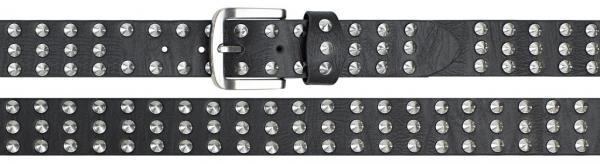 belt PU made with leather backing, schwarz