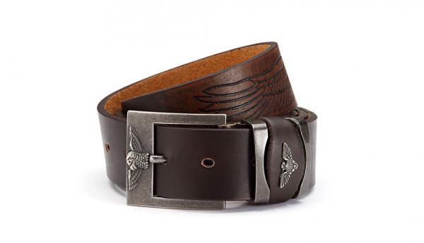 belt PU made with leather backing, white
