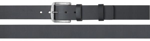 Coated Split Leather Belt, black
