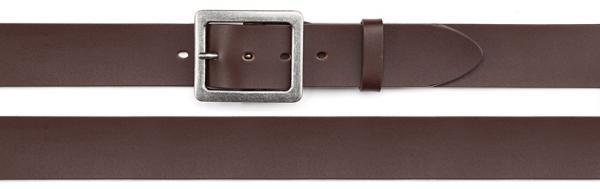coated split leather belt, brown