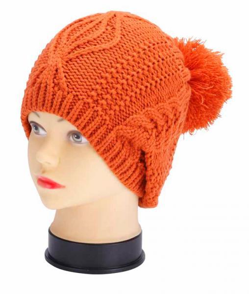 knitted hat, orange