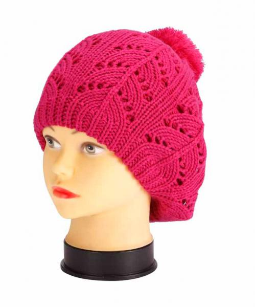 knitted hat, pink