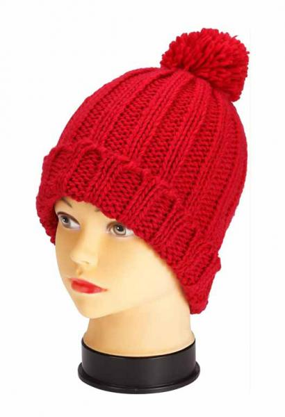knitted hat, red