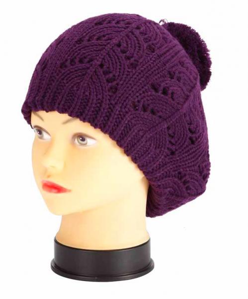 knitted hat, violet