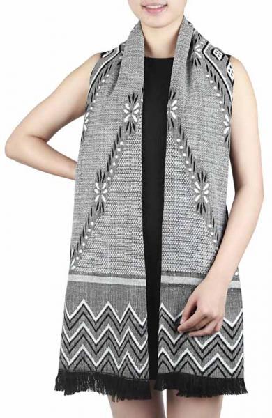 scarf, oversize, light grey