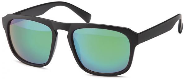 Wayfarer sunglasses mat black with Flex-Temple and Revo-mirrored lenses