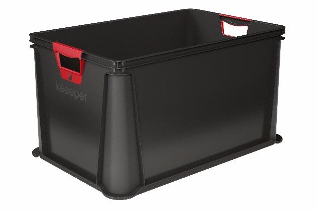 12-10068826000, OKT Eurobox  64 Liter mit Softgriff schwarz  59x39x32cm, vielseitig nutzbar
