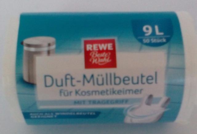 12-141551, Müllbeutel für Bad + Hygiene 9 ltr. 50er Pack mit Griff Saunabeutel und Duft - SONDERPOSTEN