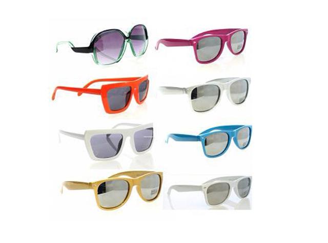 Sonnenbrillen Modische Sonnenbrille Sunglasses Brille Brillen UV-Schutz Bunt Mix - 0,69 Euro
