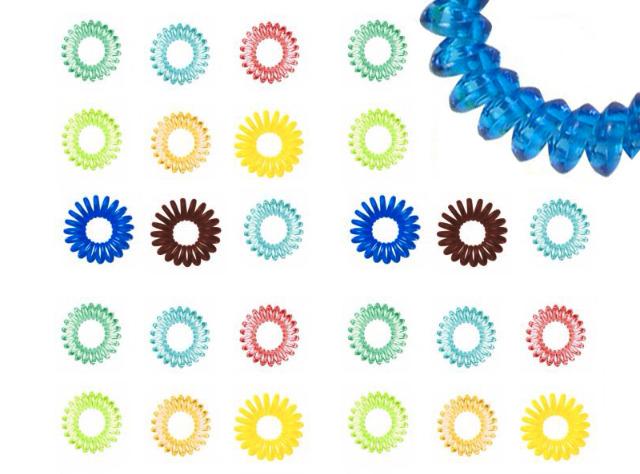Trend Haargummi Zopfgummi Spiral-Haargummi Telefonkabel Bunt Mix - 0,10 Euro