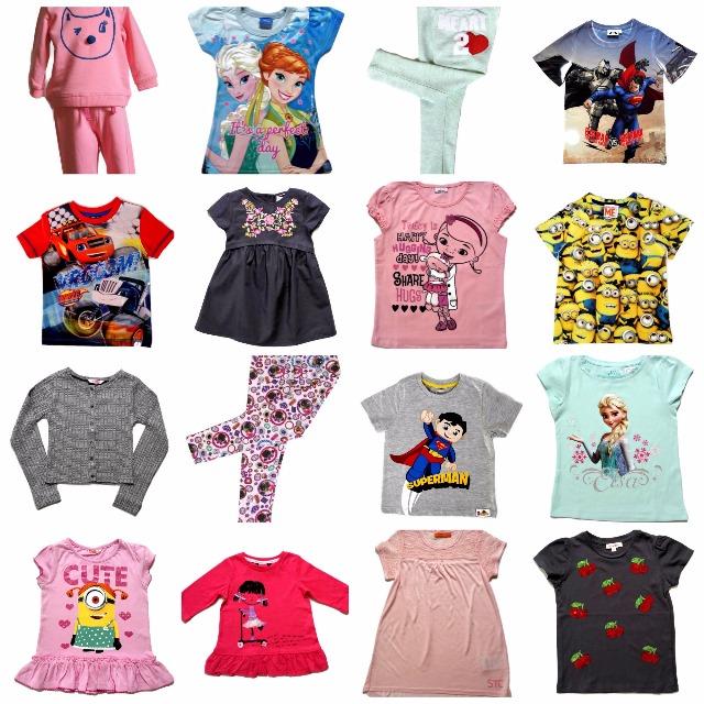 Mix Kinderkleidung; T-shirts, leggins Ausverkauf