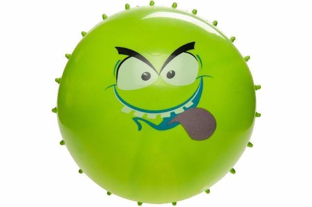 21-4816, Noppenball mit Gesicht 21 cm Fussball, Beachball, Strandball, Stachelball, Massageball, Wasserball, Wurfball, Spielball