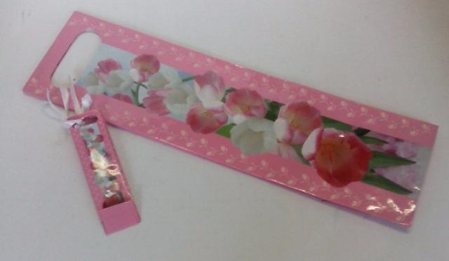 12-11054129, Susycard Flaschen Geschenktüte Flaschentüte mit Minitüte  ROSE Pink mit Glimmer, statt 3,95