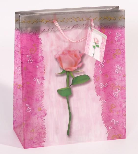 12-4052400679771, Geschenktasche L groß  Transparent Rose statt 2,79  Geschenktüte, Geschenkbeutel