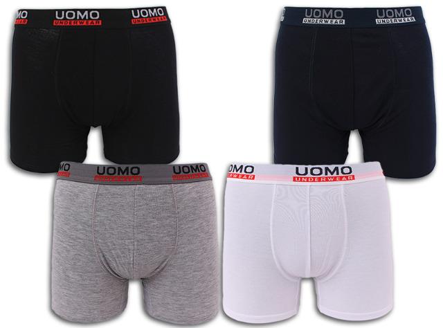 Herren Boxershorts Boxer Shorts Unterwäsche UOMO Short uni Unterhose - 1,09 Euro