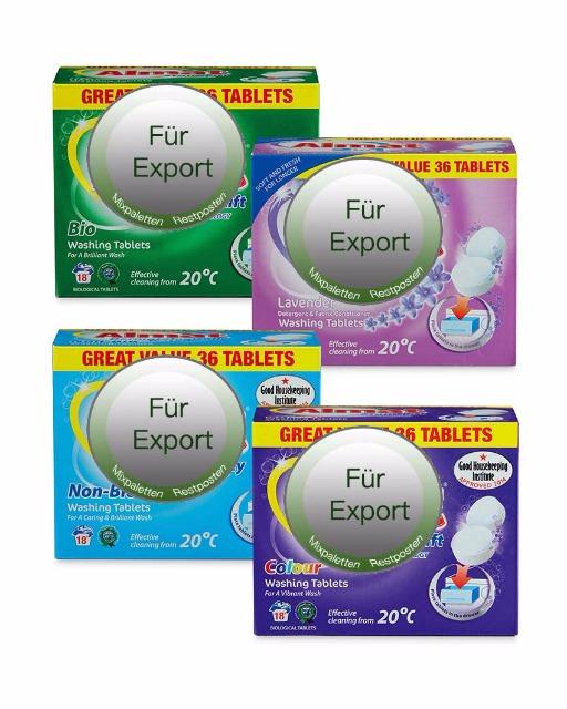 Tabs / waschmittel / vollwaschmittel /  / NUR Export - deutscher Hersteller - Made in Germany - 1A Ware/  B Ware ! Euro-1 Ware!