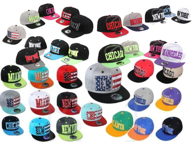 Basecap Cap Caps USA New York Mix Atlanta Chicago Trucker Kappe nur 1,49 Euro