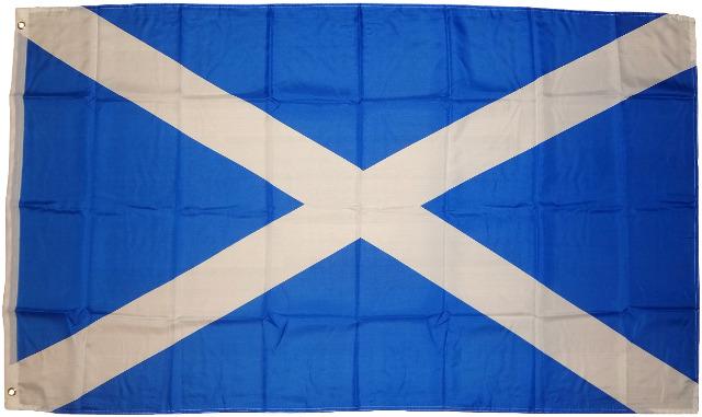 Flagge Fahne Schottland 90 x 150 cm 100g/m² Stoffgewicht mit 2 Ösen Hissfahne Hissflagge