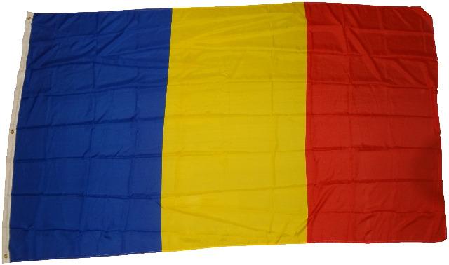 Flagge Rumänien 90 x 150 cm Fahne mit 2 Ösen 100g/m² Stoffgewicht