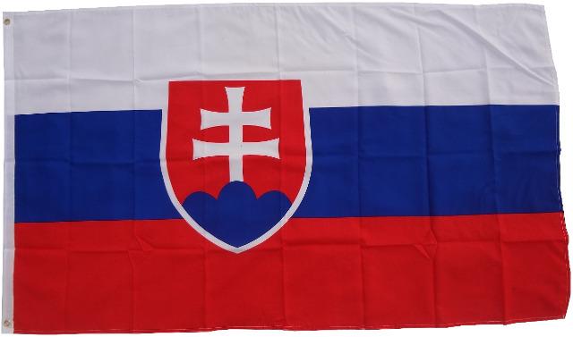 Flagge Slowakei 90 x 150 cm Fahne mit 2 Ösen 100g/m² Stoffgewicht
