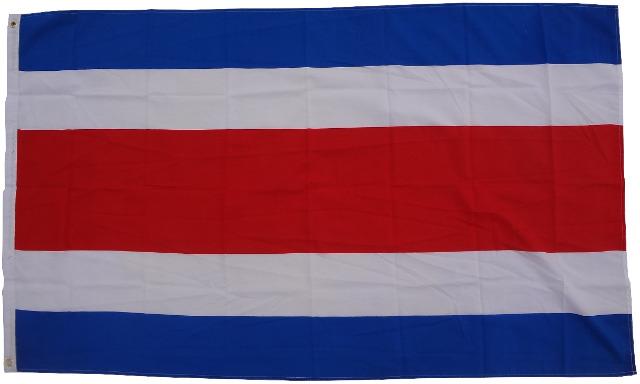 Flagge Costa Rica 90 x 150 cm Fahne mit 2 Ösen 100g/m² Stoffgewicht