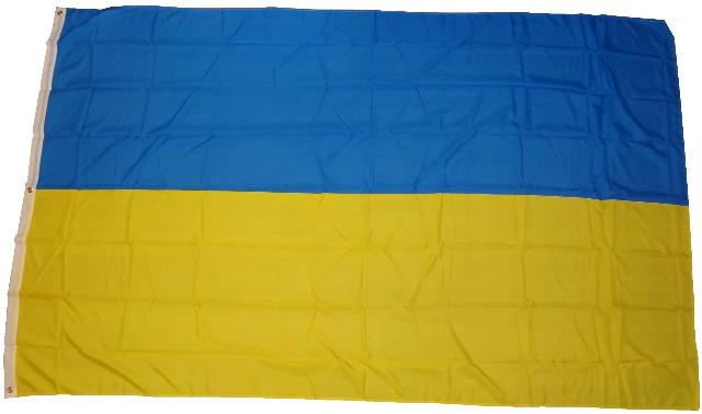 Flagge Fahne Ukraine 250 x 150 cm mit 3 Metallösen Hissflagge