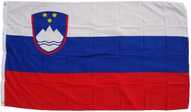 Flagge Slowenien 90 x 150 cm Fahne mit 2 Ösen 100g/m² Stoffgewicht