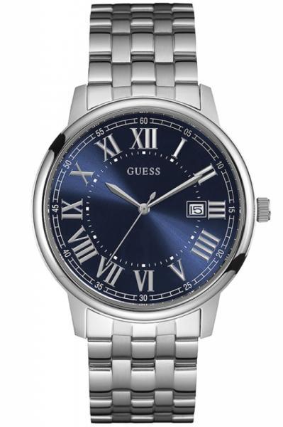 Guess Uhr Uhren Herrenuhr W0811G1 Mens Dress Contour Edelstahl