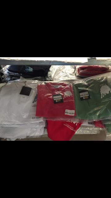 Lamborghini Polo & T -Shirts - Men's & Kids gemischt , Neu Ware , Farben: Rot,Grün,Weiß, Blau
