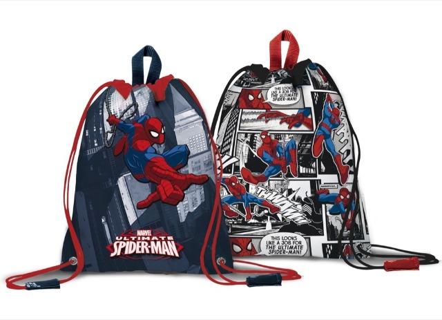 Sportbeutel 32,5 x 43cm Spiderman 2 fach sortiert