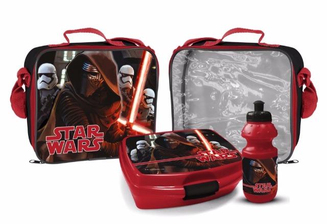 Umhängetasche mit Brotbox und Trinkflasche Star Wars